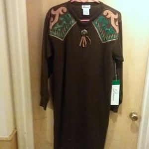 Darian brown sweater dress size M